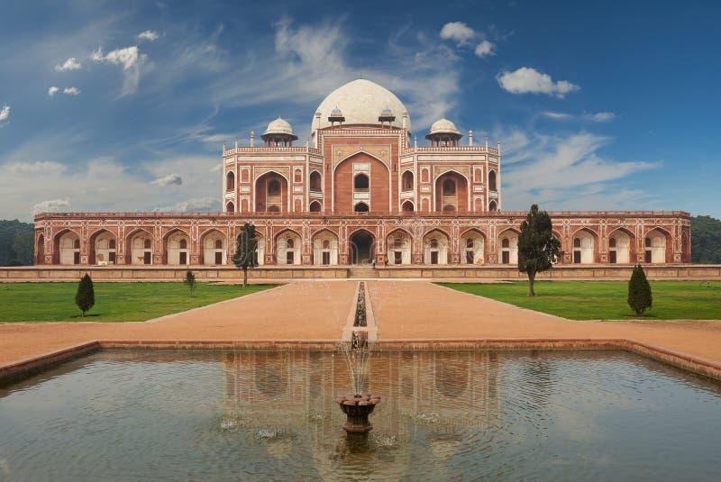 Humayun Tomb New Delhi Indien fotografering för bildbyråer