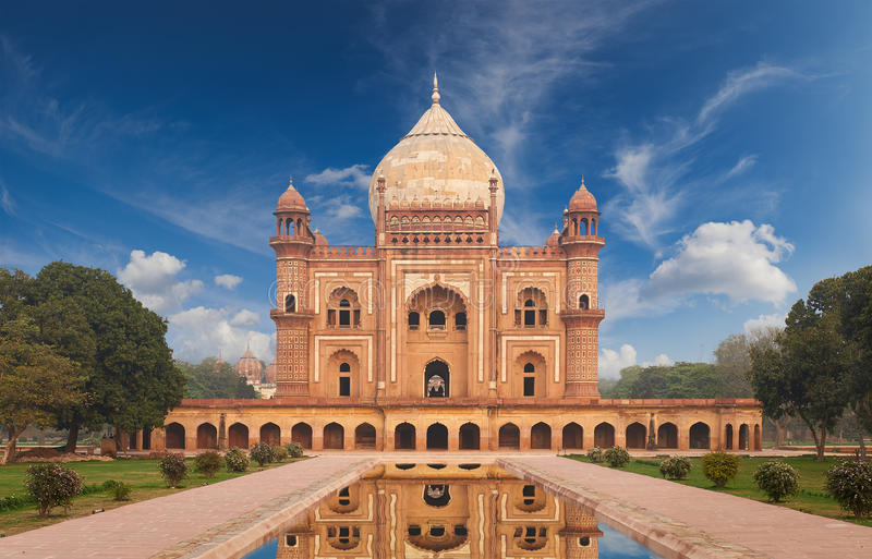 Humayun Tomb New Delhi, la India imagen de archivo