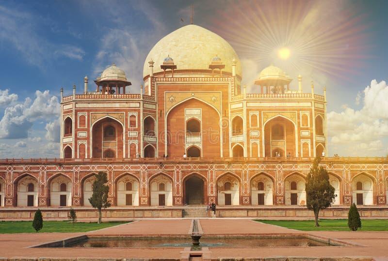 Humayun Tomb New Delhi, la India foto de archivo libre de regalías