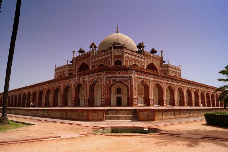 Humayuns gravvalv på Delhi, Indien royaltyfri fotografi