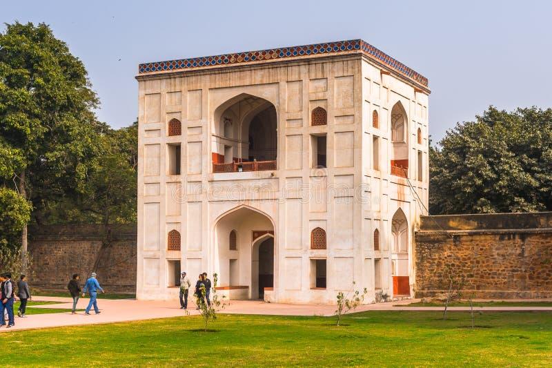 Humayuns gravvalvkomplex, gravvalvet av den Mughal kejsaren Humayun in fotografering för bildbyråer