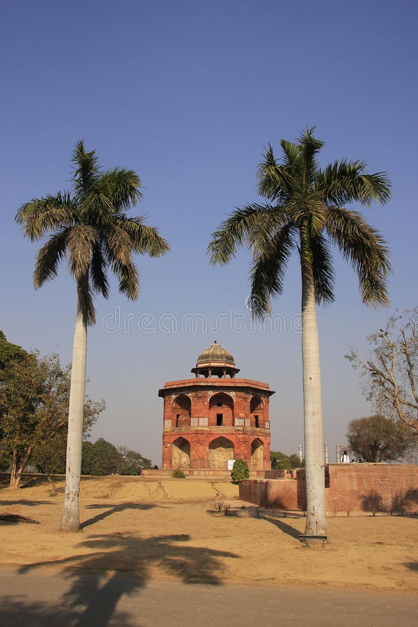 Humayuns privat arkiv, Purana Qila, New Delhi royaltyfri fotografi