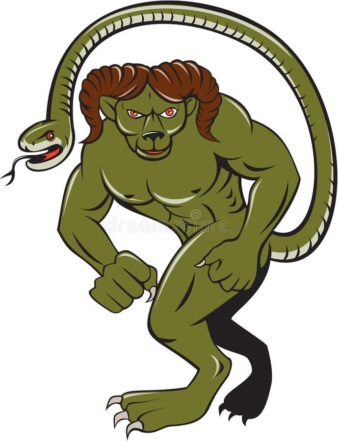 Humbaba Uderza pięścią kreskówkę royalty ilustracja