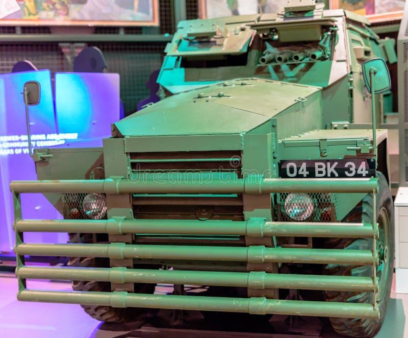 Humber świnia przy Krajowym wojska muzeum Londyn zdjęcia stock
