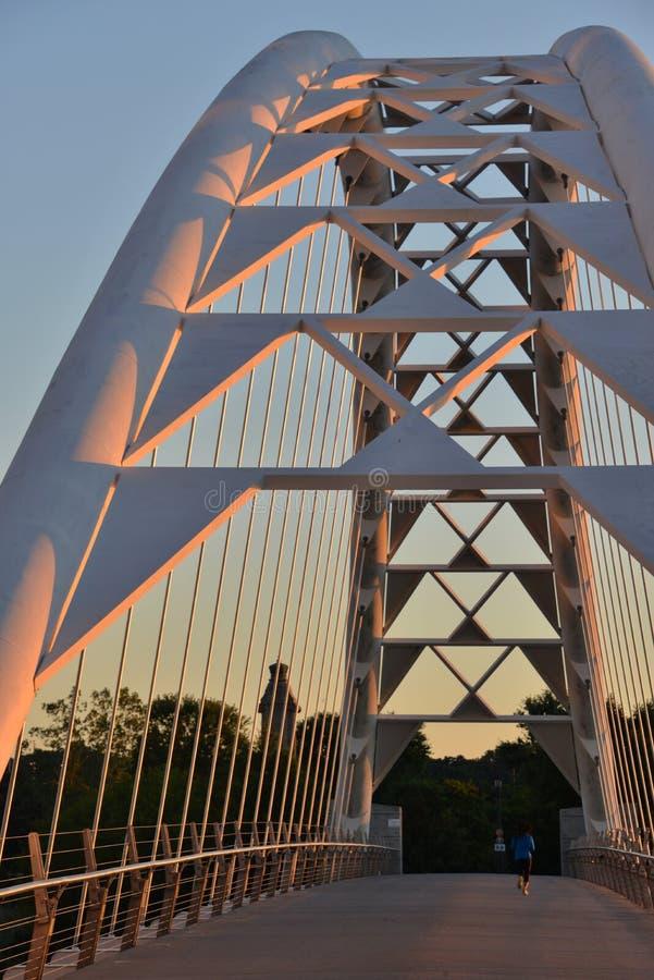 Humber Bay Arch Bridge at dawn royalty free stock photo