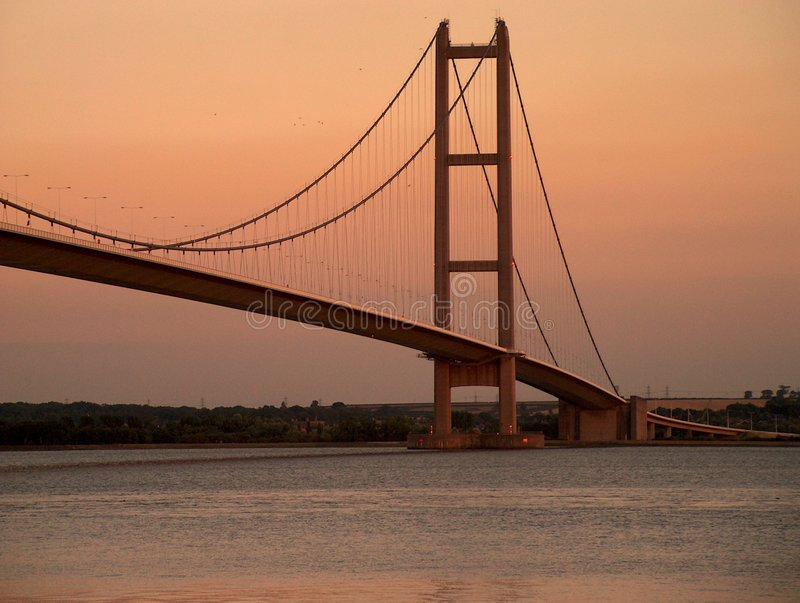 Humber Brücke stockfoto