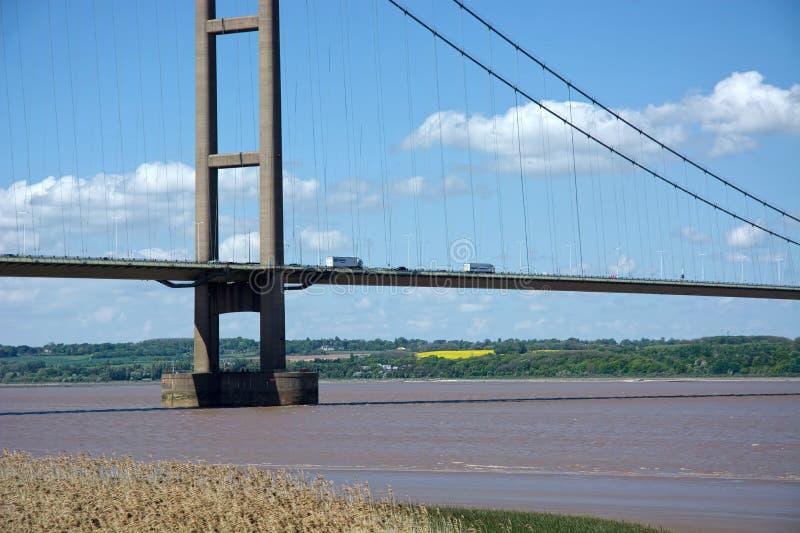 Humber Bridge, Barton Upon Humber. UK. The Humber Bridge, near Kingston upon Hull, East Riding of Yorkshire, England, is a 2.22-kilometre 2,430 yd; 7,300 ft; 1 royalty free stock image