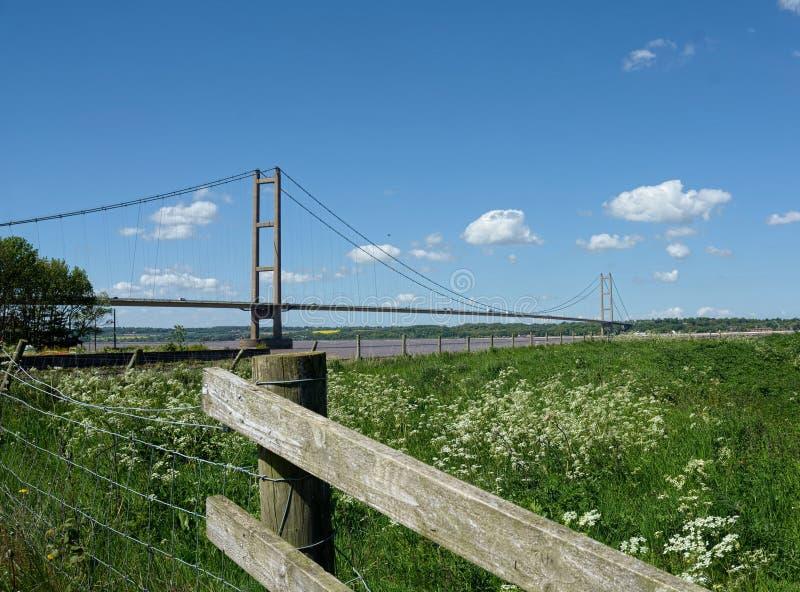 Humber Bridge, Barton Upon Humber. UK. The Humber Bridge, near Kingston upon Hull, East Riding of Yorkshire, England, is a 2.22-kilometre 2,430 yd; 7,300 ft; 1 stock photos