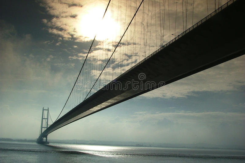 Humber bro, Kingston på skrov royaltyfri bild
