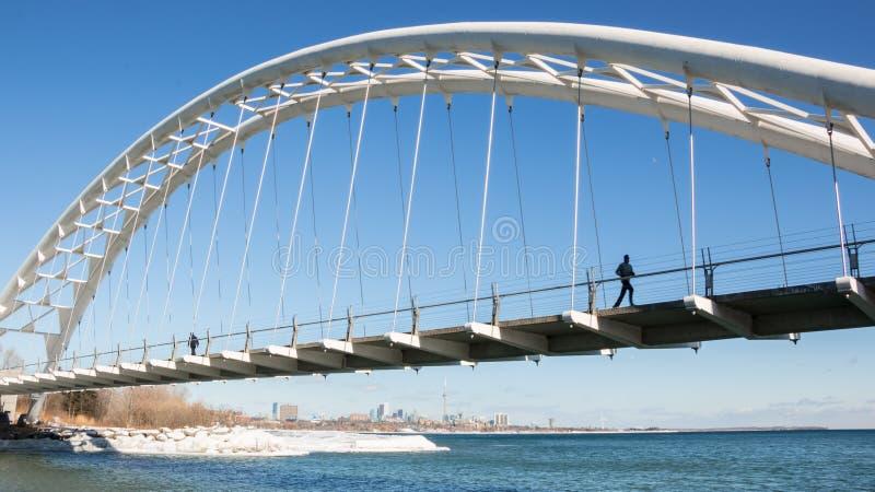 Humber-Bucht-Bogen-Brücke lizenzfreie stockfotografie