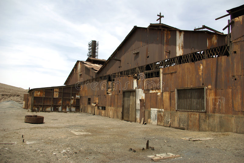 Humberstone - Geisterstadt in Chile stockbild