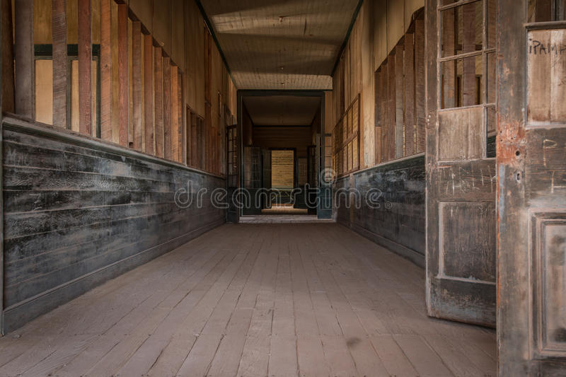Humberstone ghost town, Atacama desert, Chile royalty free stock photo