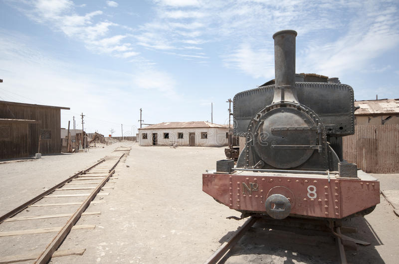 Humberstone - ghost town in Chile royalty free stock photo