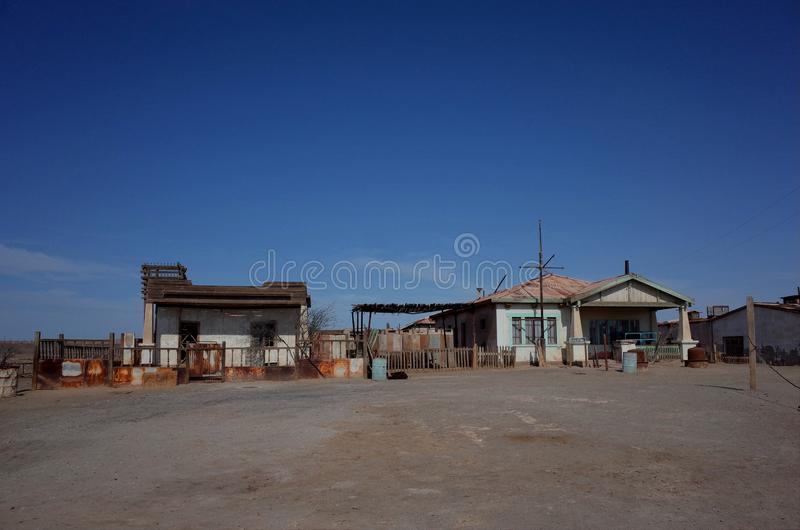 Humberstone Saltpeter Worksm in northern Chile royalty free stock photography