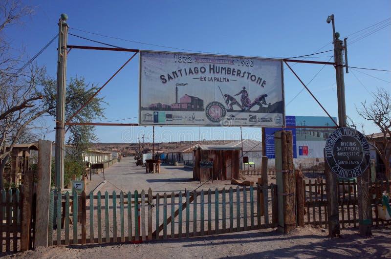 Humberstone Saltpeter Worksm w północnym Chile obrazy stock