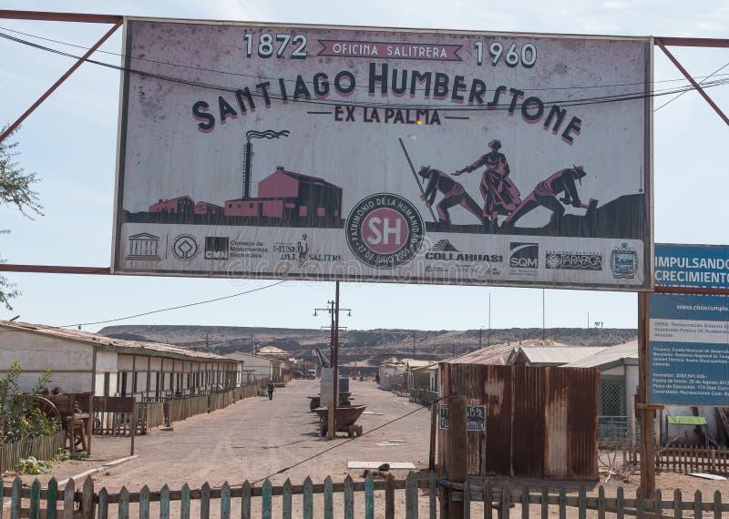 Humberstonespookstad in Noordelijk Chili stock afbeelding