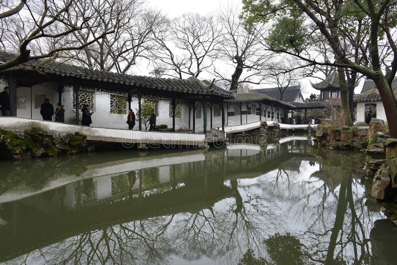 The Humble Administrator`s Garden. Is a Chinese garden in Suzhou, a UNESCO World Heritage Site and one of the most famous of the gardens of Suzhou. The garden royalty free stock photos
