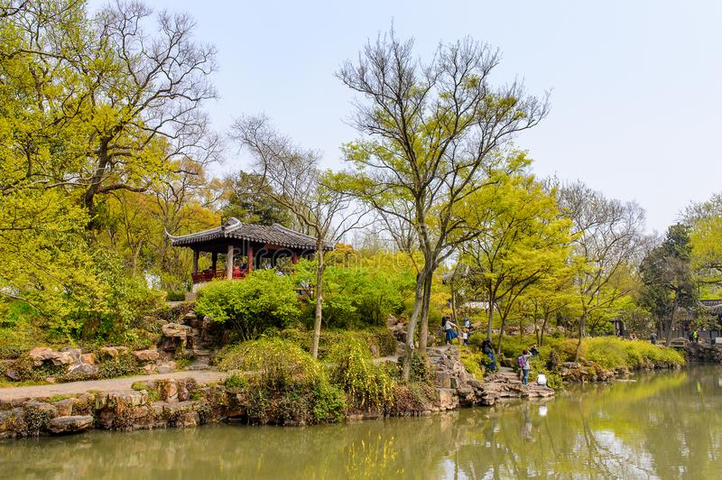 The Humble Administrator's Garden. SUZHOU, CHINA - APR 1, 2016: The Humble Administrator's Garden, a Chinese garden in Suzhou, a UNESCO World Heritage Site stock image