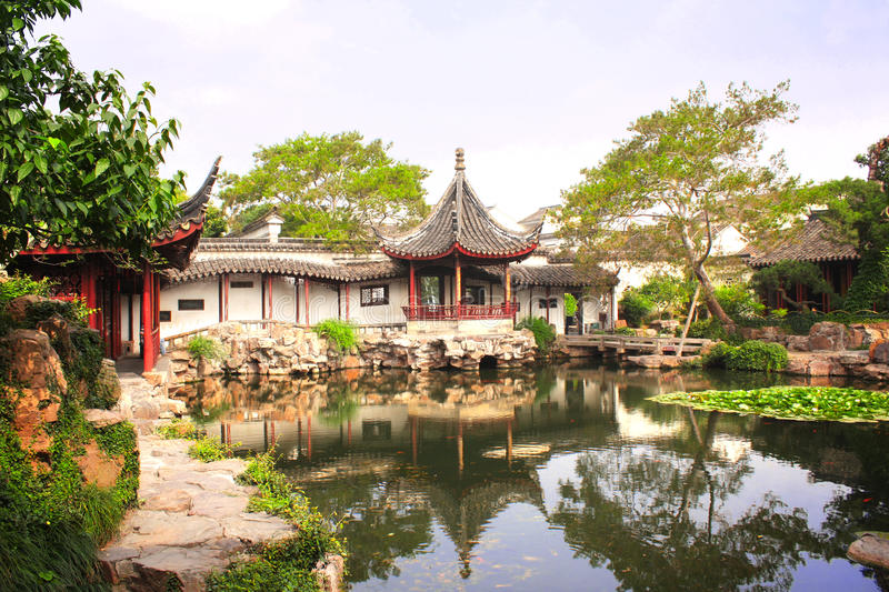 Humble Administrator's Garden in Suzhou, China royalty free stock image