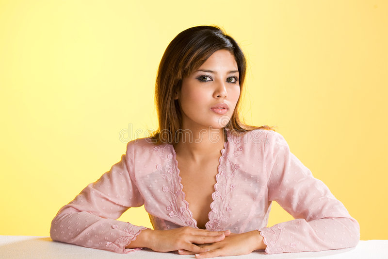 Download Humble Asian Muslim Young Woman Stock Image - Image: 5936571