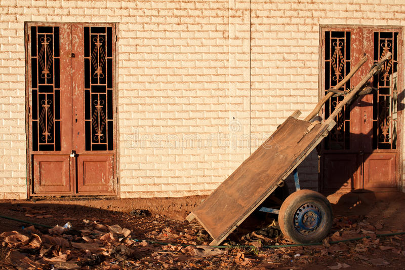 Humble Handcart Parked Stock Photo