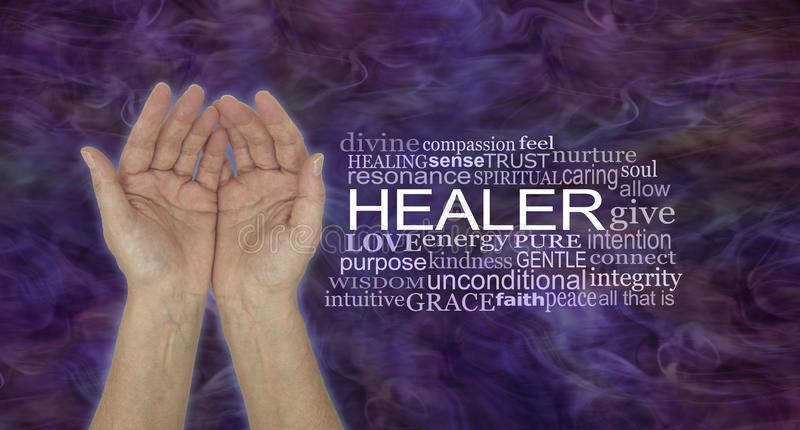 The Humble Hands of a Spiritual Healer stock photo