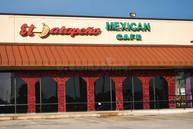 El Jalapeno Mexican Cafe restaurant in Humble, TX. royalty free stock image