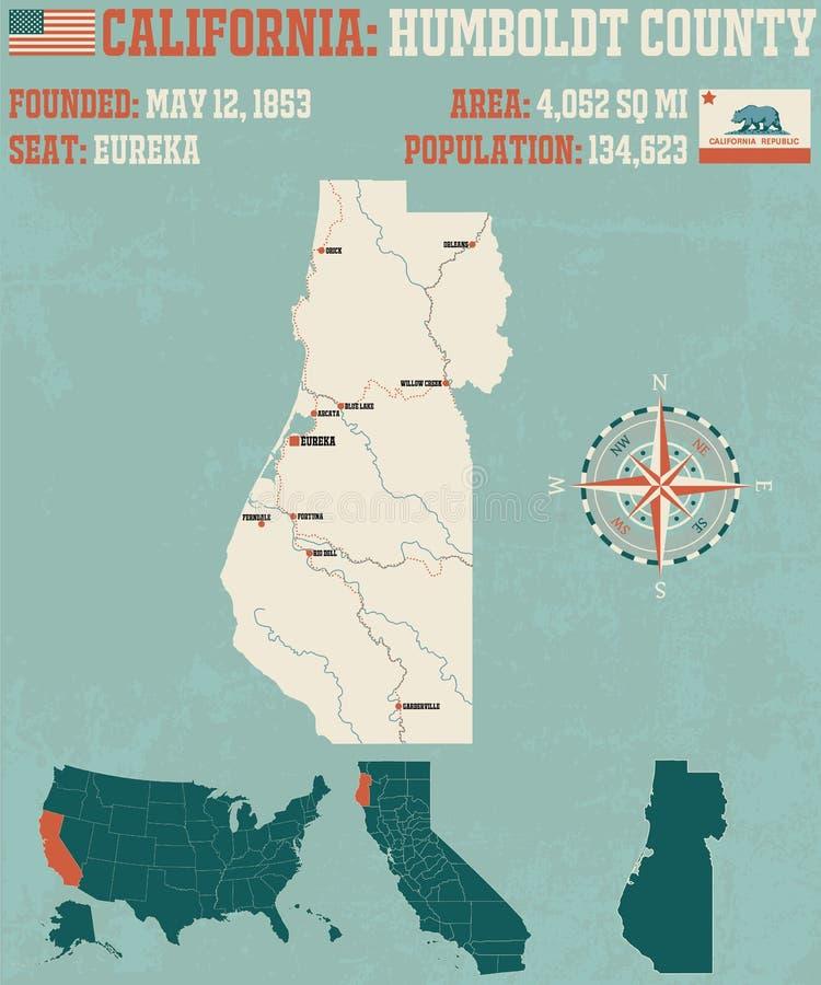Humboldt County em Califórnia ilustração stock
