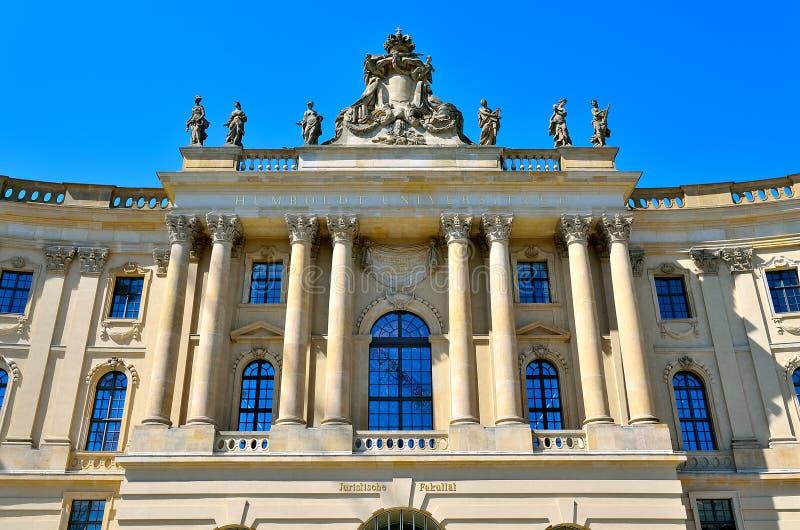 Humboldt Universität in Berlin stockbilder