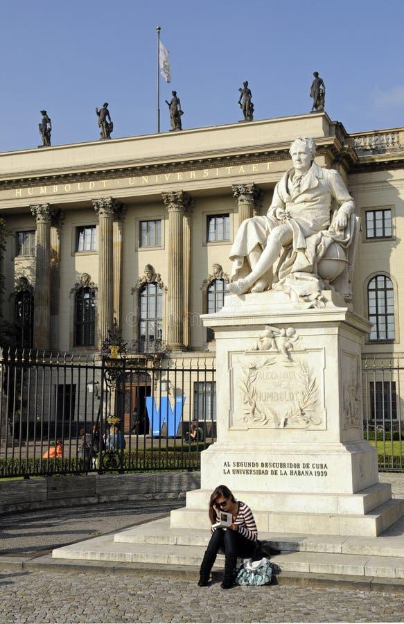Humboldt universitair Berlijn stock fotografie