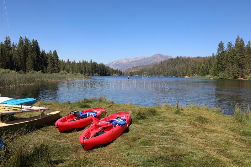 Hume Lake near Kings Canyon National Park. California. Hume Lake near Kings Canyon National Park. A popular Place for Families to enjoy the wonderful lake and stock photos