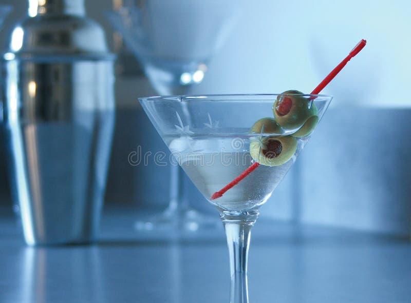 Humeur bleue Martini photographie stock