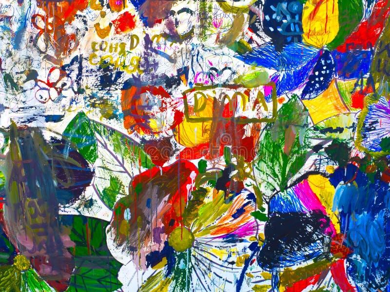 Humeur d'affiche d'abstraction de dessin photos stock