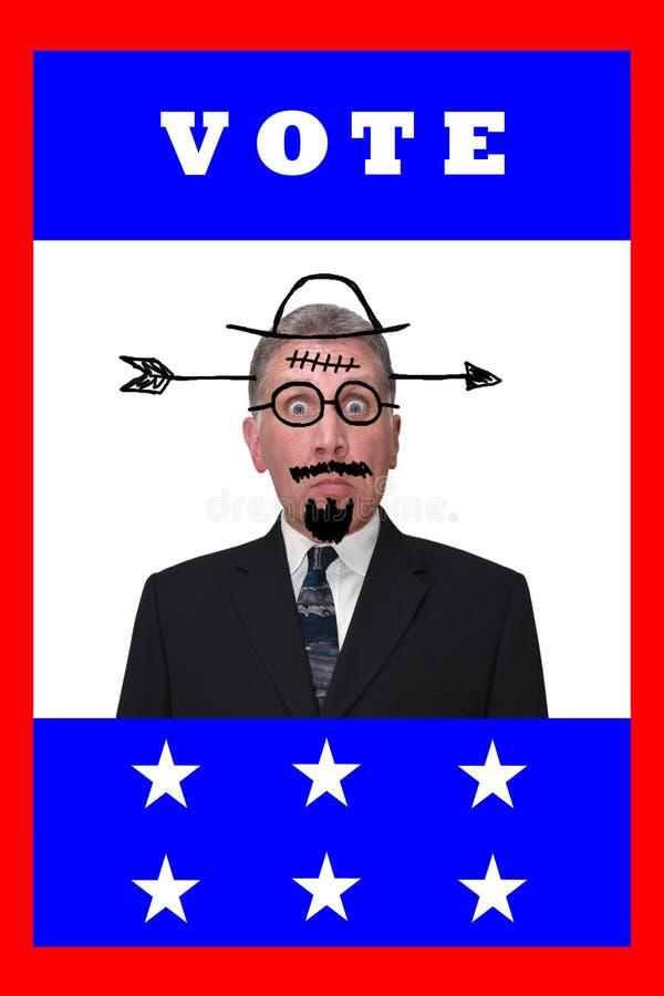 Humeur de la politique d'apathie d'électeur d'an d'élection de voix illustration stock