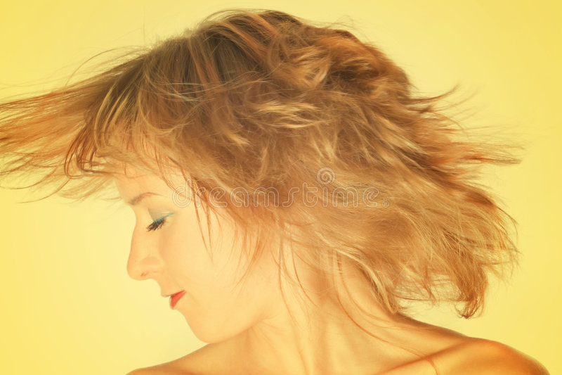 Humeur jaune photos stock