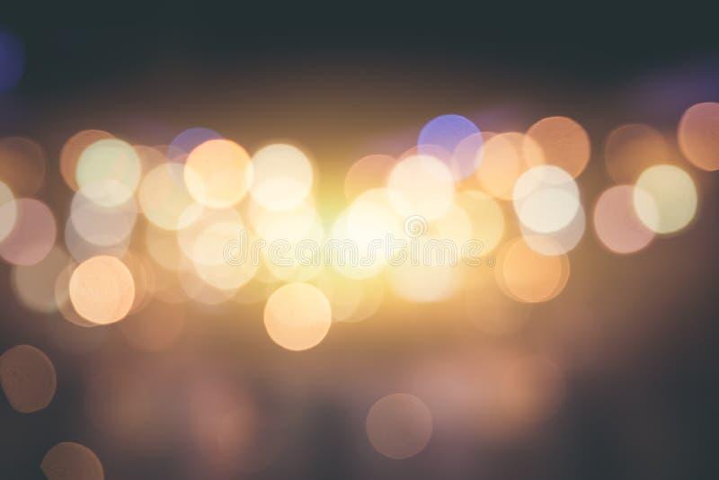 Humeur tranquille douce de bokeh de tache floue de ville et belle émotion image libre de droits