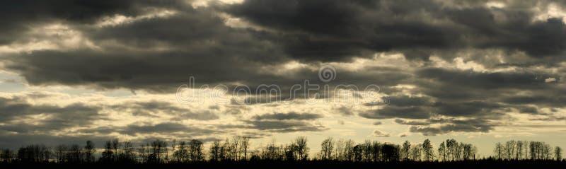 Humeurig cloudscapepanorama stock afbeelding