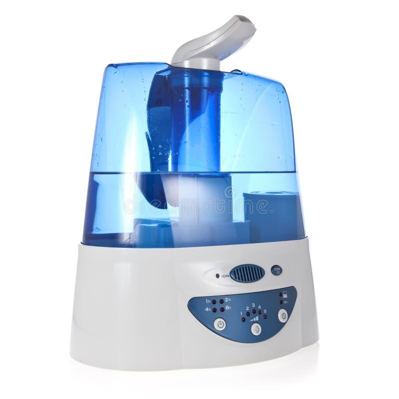 Humidificador com o purificador iónico do ar isolado imagens de stock
