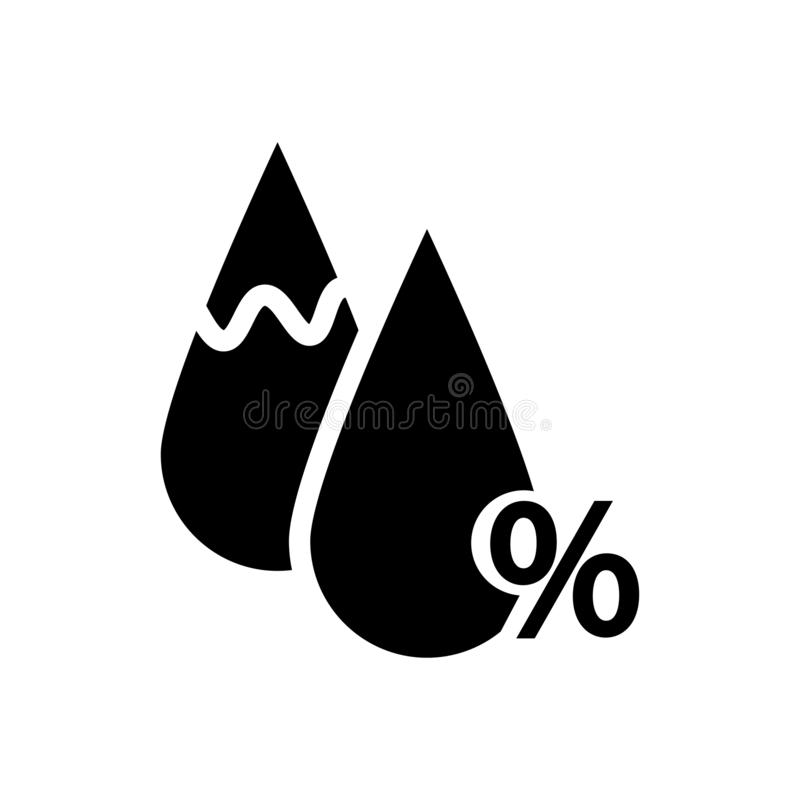 Humidity icon. Drop and percent sign. Eps ten royalty free illustration
