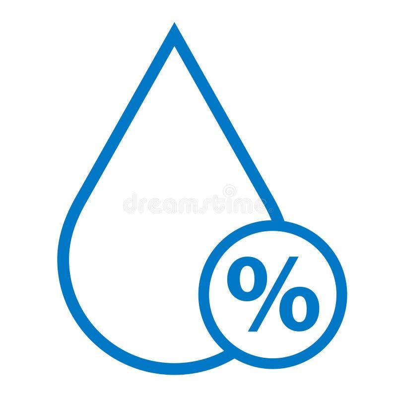 Humidity vector icon stock illustration