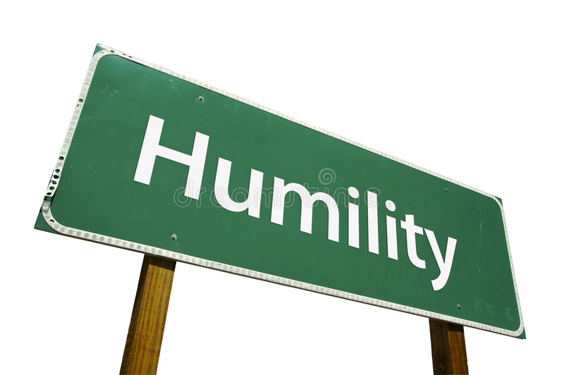 Humility road sign. Isolated on a white background. Contains Clipping Path