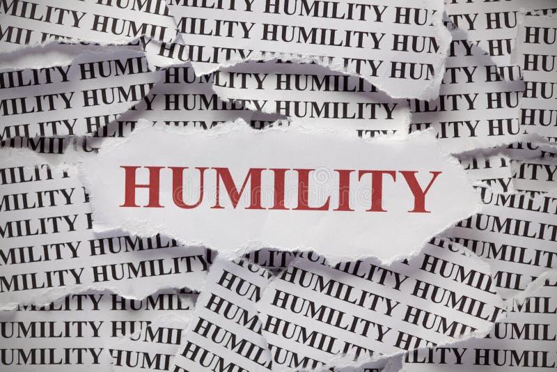 Humility stock image