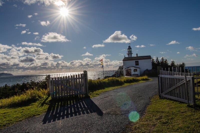 Hummer-Bucht-Leuchtturm-Spur stockbild