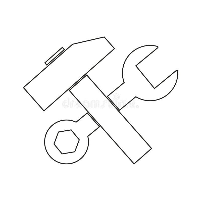 Hummer com ícone da chave ilustração do vetor
