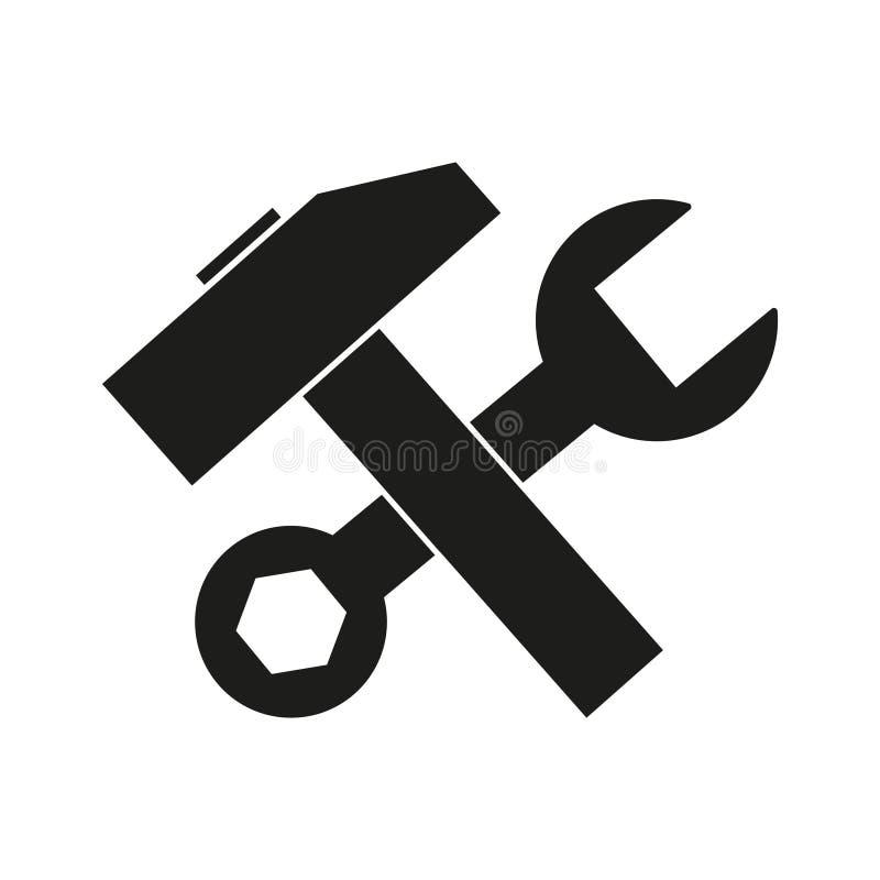 Hummer com ícones da chave ilustração do vetor