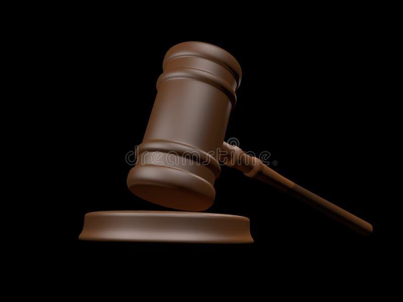 Hummer 3d de la justicia rendido stock de ilustración