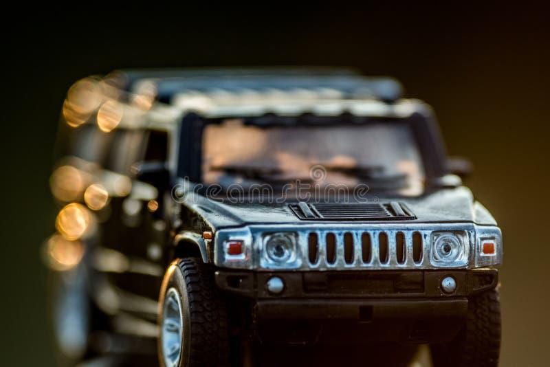 Hummer do carro do brinquedo fora imagem de stock royalty free