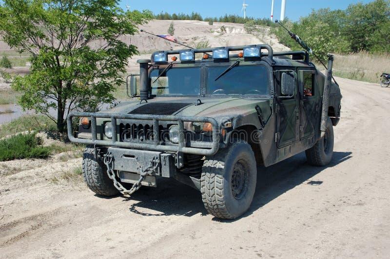 Hummer do veículo militar dos E.U. fotografia de stock