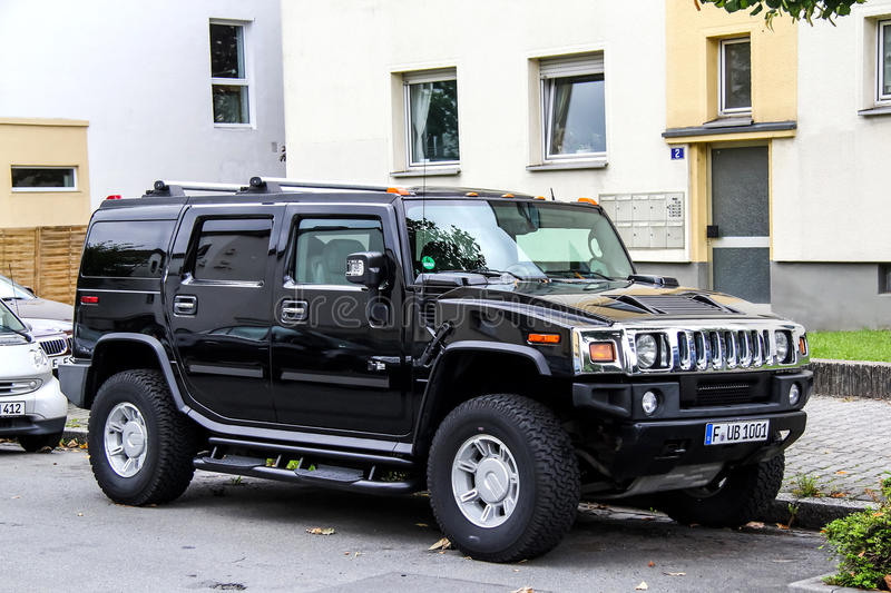 Hummer H2 royalty-vrije stock afbeelding