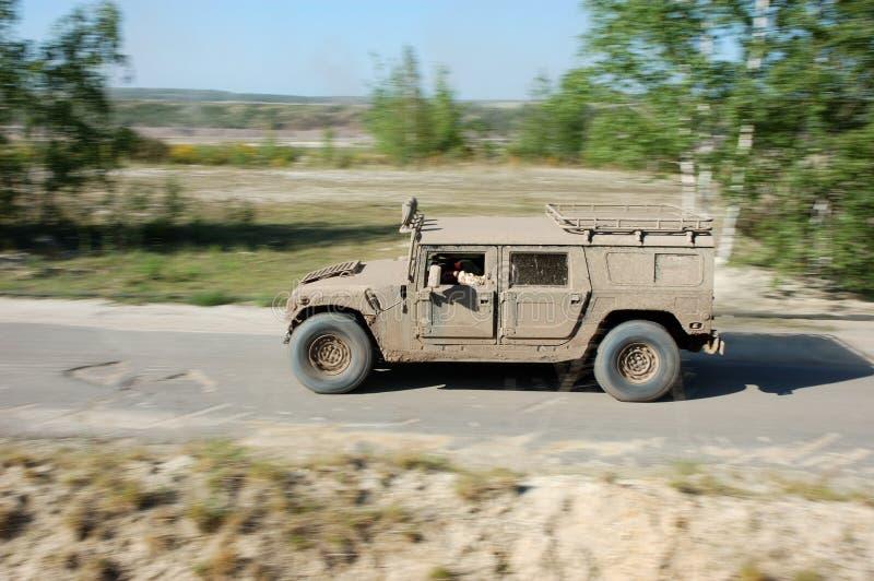 Hummer H1 na ação fotos de stock royalty free